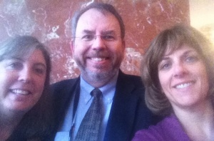 Photo of Marianne Boeke, Russ Poulin, and Stacey Zis