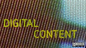 "Graphic with the words ""Digital Content"""