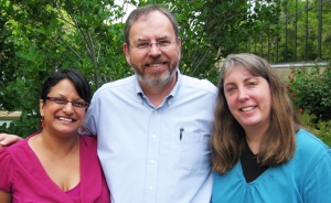 Photo of Sharmila Basu Conger, Russ Poulin, and Marianne Boeke