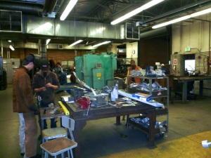 Photo of students at Renton Technical College in a welding class