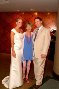 Photo of guest blogger Sean Baxter at his wedding with his bride and her mother.