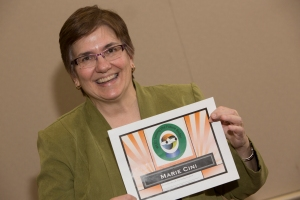"Photo of Marie Cini with ""Seeing the Future Certificate"