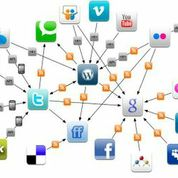 Graphic interconnected social networks.