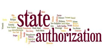 """The words """"state authorization surrounded by all the state names."""