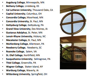 List of colleges participating in Project David.