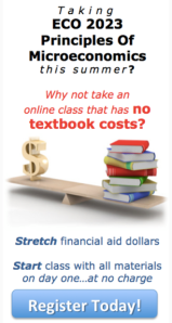 Figure 2: Broward College Online LMS advertising for no-textbook/material cost classes.