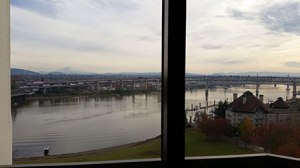 View from the Downtown Portland Marriott Waterfront.