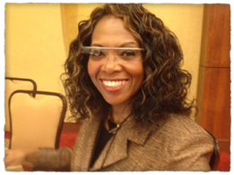 Robbie Melton with Google Glass on