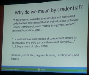 slide what do we mean by credentials