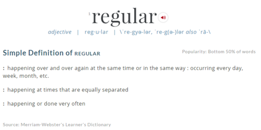 Clip of the online version of Merriam Webster definition of