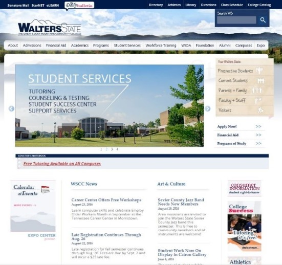 Walters State Community College Homepage