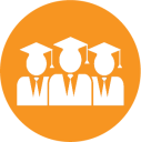 graphic of graduates in graduate regalia