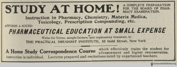 A vintage STUDY AT HOME correspondence course newspaper ad