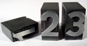 Three blocks with the numbers 1, 2, 3