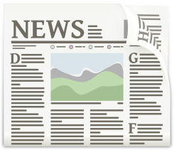 A graphic of a news paper