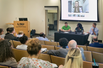 This student panel event was one of the most popular OTC meetings. Two students joined us remotely from different parts of the country. Attendees commented on how much they enjoyed hearing from students about their experiences and perspectives.
