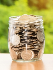 A jar full of coins