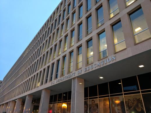 Picture of the front of the U.S. Department of Education building.