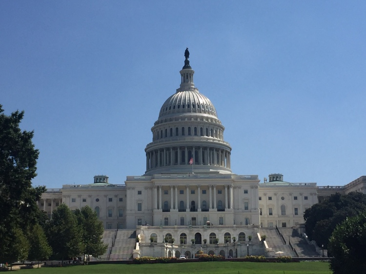 Picture of the capitol building from the front.
