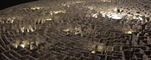Picture of an ancient labrynth maze.