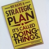 "Yellow quote box that reads, ""We have a strategic plan -- It's called doing things,"" by Herb Kelleher."