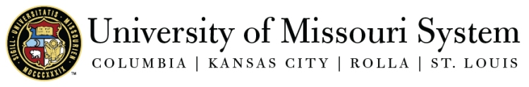 Official sign of University of Missouri System including Columbia, Kansas City, Rolla, and St. Louis.