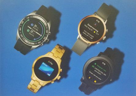 Picture of four innovative watches that serve as the latest wearable technology.
