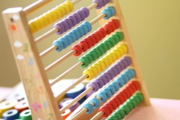 A multicolored abacus
