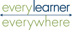 logo of everylearnereverywhere with an arrow