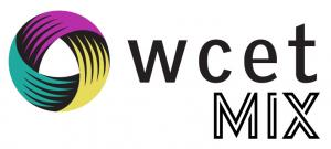 "WCET MIX circle logo with the word ""wcet mix"""