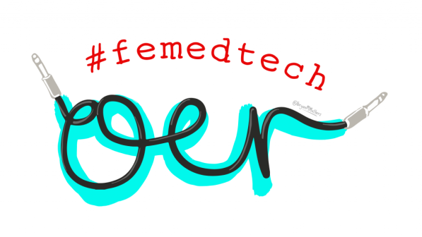 A drawing that reads #femedtech and
