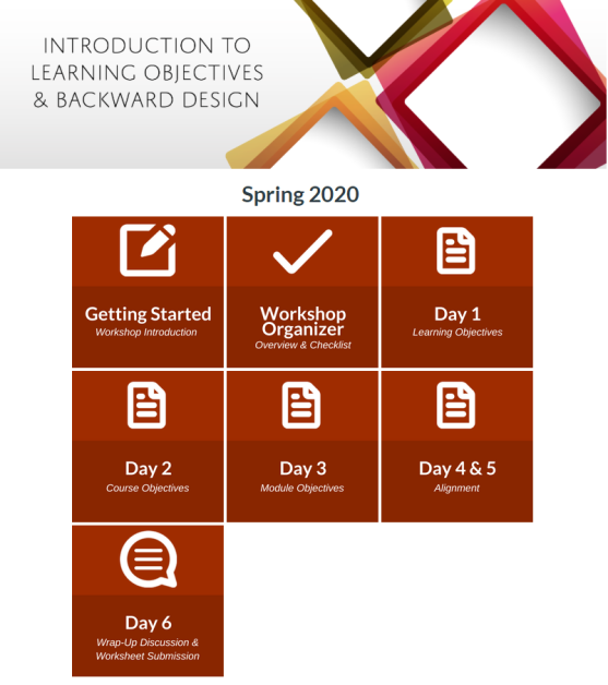The homepage of the ITL website showing introduction and learning objectives of the course.
