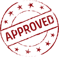 stamp that says approved