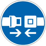 icon for fastening a seatbelt