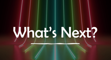 "Graphic with ""what's next"""