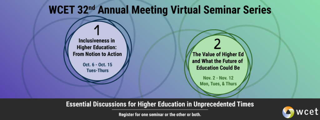 visual of the Annual meeting seminar series dates